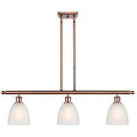 Innovations Lighting 516-3I-AC-G381-LED Castile LED 36 inch Antique Copper Island Light Ceiling Light Ballston