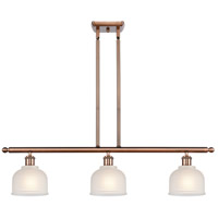 Innovations Lighting 516-3I-AC-G411-LED Dayton LED 36 inch Antique Copper Island Light Ceiling Light Ballston