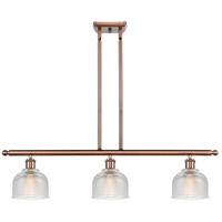 Innovations Lighting 516-3I-AC-G412-LED Dayton LED 36 inch Antique Copper Island Light Ceiling Light Ballston