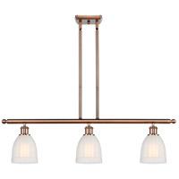Innovations Lighting 516-3I-AC-G441-LED Brookfield LED 36 inch Antique Copper Island Light Ceiling Light, Ballston