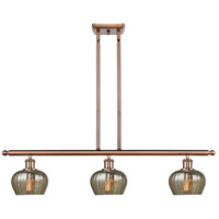 Innovations Lighting 516-3I-AC-G96-LED Fenton LED 36 inch Antique Copper Island Light Ceiling Light Ballston