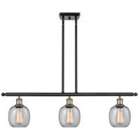 Innovations Lighting 516-3I-BAB-G104-LED Belfast LED 36 inch Black Antique Brass Island Light Ceiling Light, Ballston