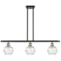 Innovations Lighting 516-3I-BAB-G1213-6-LED Small Deco Swirl LED 36 inch Black Antique Brass Island Light Ceiling Light Ballston