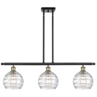 Innovations Lighting 516-3I-BAB-G1213-8-LED Deco Swirl LED 36 inch Black Antique Brass Island Light Ceiling Light Ballston