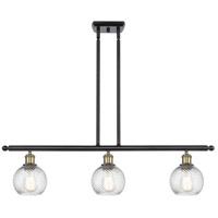 Innovations Lighting 516-3I-BAB-G1214-6-LED Small Twisted Swirl LED 36 inch Black Antique Brass Island Light Ceiling Light Ballston