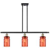 Innovations Lighting 516-3I-BAB-G352-COR-LED Candor LED 36 inch Black Antique Brass Island Light Ceiling Light, Ballston