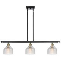 Innovations Lighting 516-3I-BAB-G412-LED Dayton LED 36 inch Black Antique Brass Island Light Ceiling Light Ballston