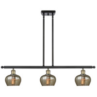 Innovations Lighting 516-3I-BAB-G96-LED Fenton LED 36 inch Black Antique Brass Island Light Ceiling Light Ballston