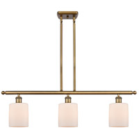 Brushed Brass Steel Cobbleskill Island Lights