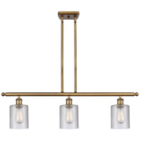 Innovations Lighting 516-3I-BB-G112-LED Cobbleskill LED 36 inch Brushed Brass Island Light Ceiling Light Ballston