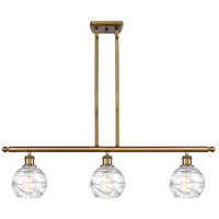 Innovations Lighting 516-3I-BB-G1213-6-LED Small Deco Swirl LED 36 inch Brushed Brass Island Light Ceiling Light Ballston