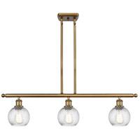 Innovations Lighting 516-3I-BB-G1214-6-LED Small Twisted Swirl LED 36 inch Brushed Brass Island Light Ceiling Light Ballston