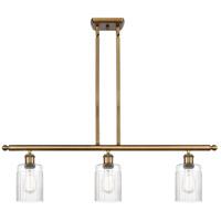 Innovations Lighting 516-3I-BB-G342-LED Hadley LED 36 inch Brushed Brass Island Light Ceiling Light Ballston