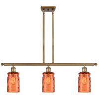 Innovations Lighting 516-3I-BB-G352-TUR-LED Candor LED 36 inch Brushed Brass Island Light Ceiling Light Ballston