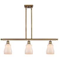 Innovations Lighting 516-3I-BB-G391-LED Ellery LED 36 inch Brushed Brass Island Light Ceiling Light Ballston
