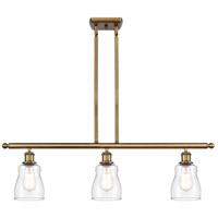 Innovations Lighting 516-3I-BB-G392-LED Ellery LED 36 inch Brushed Brass Island Light Ceiling Light Ballston