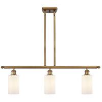 Innovations Lighting 516-3I-BB-G801 Clymer 3 Light 36 inch Brushed Brass Island Light Ceiling Light Ballston