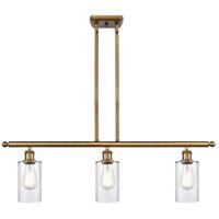 Innovations Lighting 516-3I-BB-G802 Clymer 3 Light 36 inch Brushed Brass Island Light Ceiling Light Ballston
