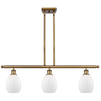 Innovations Lighting 516-3I-BB-G81-LED Eaton LED 36 inch Brushed Brass Island Light Ceiling Light Ballston