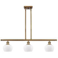 Innovations Lighting 516-3I-BB-G91-LED Fenton LED 36 inch Brushed Brass Island Light Ceiling Light Ballston