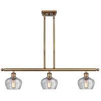 Innovations Lighting 516-3I-BB-G92-LED Fenton LED 36 inch Brushed Brass Island Light Ceiling Light Ballston