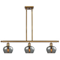 Innovations Lighting 516-3I-BB-G93-LED Fenton LED 36 inch Brushed Brass Island Light Ceiling Light Ballston