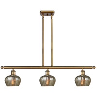 Innovations Lighting 516-3I-BB-G96-LED Fenton LED 36 inch Brushed Brass Island Light Ceiling Light Ballston