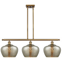 Innovations Lighting 516-3I-BB-G96-L Large Fenton 3 Light 38 inch Brushed Brass Island Light Ceiling Light, Ballston