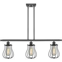Innovations Lighting 516-3I-BK-513-LED Barrington LED 36 inch Matte Black Island Light Ceiling Light, Austere