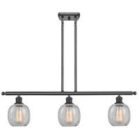 Innovations Lighting 516-3I-BK-G105-LED Belfast LED 36 inch Matte Black Island Light Ceiling Light, Ballston