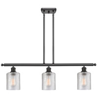 Innovations Lighting 516-3I-BK-G112-LED Cobbleskill LED 36 inch Matte Black Island Light Ceiling Light