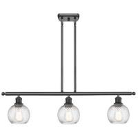 Innovations Lighting 516-3I-BK-G1214-6-LED Small Twisted Swirl LED 36 inch Matte Black Island Light Ceiling Light Ballston