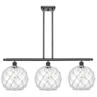 Innovations Lighting 516-3I-BK-G122-10RW Large Farmhouse Rope 3 Light 36 inch Matte Black Island Light Ceiling Light, Ballston photo thumbnail