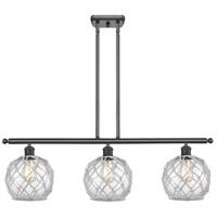 Innovations Lighting 516-3I-BK-G122-8RW-LED Farmhouse Rope LED 36 inch Matte Black Island Light Ceiling Light Ballston