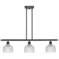 Innovations Lighting 516-3I-BK-G412 Dayton 3 Light 36 inch Matte Black Island Light Ceiling Light Ballston
