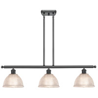 Matte Black Glass Arietta Island Lights