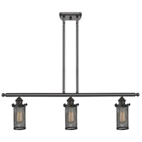 Innovations Lighting 516-3I-OB-220 Bleecker 3 Light 42 inch Oiled Rubbed Bronze Island Light Ceiling Light