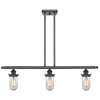 Innovations Lighting 516-3I-OB-232CL Kingsbury 3 Light 42 inch Oiled Rubbed Bronze Island Light Ceiling Light