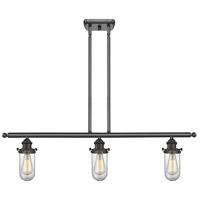 Innovations Lighting 516-3I-OB-232CL-LED Kingsbury LED 42 inch Oil Rubbed Bronze Island Light Ceiling Light