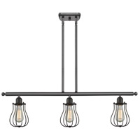 Innovations Lighting 516-3I-OB-513 Barrington 3 Light 42 inch Oiled Rubbed Bronze Island Light Ceiling Light