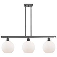 Innovations Lighting 516-3I-OB-G121-LED Athens LED 36 inch Oil Rubbed Bronze Island Light Ceiling Light Ballston