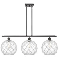 Innovations Lighting 516-3I-OB-G122-10RW-LED Large Farmhouse Rope LED 36 inch Oil Rubbed Bronze Island Light Ceiling Light, Ballston photo thumbnail