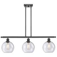 Innovations Lighting 516-3I-OB-G124 Athens 3 Light 36 inch Oil Rubbed Bronze Island Light Ceiling Light Ballston