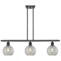 Innovations Lighting 516-3I-OB-G125 Athens 3 Light 42 inch Oiled Rubbed Bronze Island Light Ceiling Light