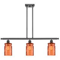 Innovations Lighting 516-3I-OB-G352-TUR Candor 3 Light 36 inch Oil Rubbed Bronze Island Light Ceiling Light Ballston