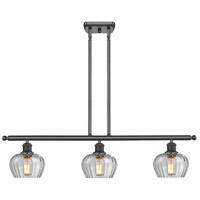 Innovations Lighting 516-3I-OB-G92-LED Fenton LED 42 inch Oil Rubbed Bronze Island Light Ceiling Light