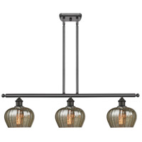 Innovations Lighting 516-3I-OB-G96-LED Fenton LED 42 inch Oil Rubbed Bronze Island Light Ceiling Light