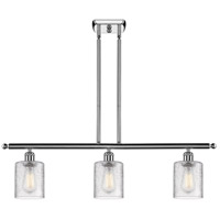 Innovations Lighting 516-3I-PC-G112 Cobbleskill 3 Light 42 inch Polished Chrome Island Light Ceiling Light