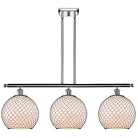 Innovations Lighting 516-3I-PC-G121-10CBK Large Farmhouse Chicken Wire 3 Light 36 inch Polished Chrome Island Light Ceiling Light, Ballston