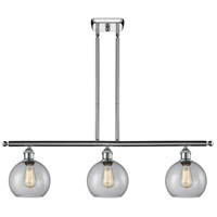 Innovations Lighting 516-3I-PC-G122 Athens 3 Light 42 inch Polished Chrome Island Light Ceiling Light